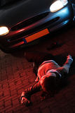 Road Accident With A Victim Royalty Free Stock Photos