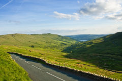 Road accross hills Stock Photography