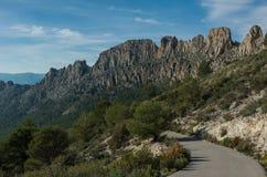 Road across Castellets Ridge near Puig Campana, from near Altea Royalty Free Stock Photography
