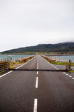 Road across a Causeway in Scotland Royalty Free Stock Photos