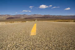 Road across Death Valley Royalty Free Stock Images