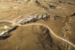 Road Across the Desert Stock Photo