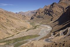 Road across Ladakh Royalty Free Stock Photo
