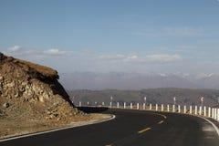Road across the mountain Royalty Free Stock Photo