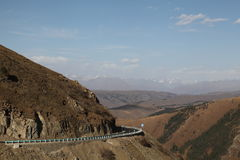 Road across the mountain Stock Image