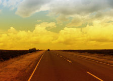 Road across North Yorkshre Moors Royalty Free Stock Images
