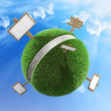 Road across a planet concept Royalty Free Stock Photography