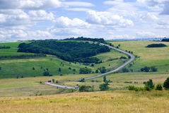 The road across the ravine. In the Voronezh region, Russia Stock Images