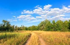 Road across steppe Stock Photo