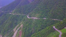 Road across Yilan Coastline in Taiwan. Mountan Terrain of North East Sea Shore near Taipei City. Aerial View. Shot with a DJI Mavic fps 29,97 4k stock footage