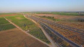 Road aerial shooting stock video