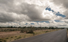Road in the African savannah Stock Photography