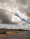 Road in the African savannah Royalty Free Stock Photography