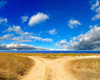 Road against the sky Stock Image