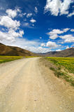 The Road ahead. Photo of a road in Tibet Stock Photo