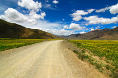 The Road ahead. Photo of a highway in Tibet Stock Photography
