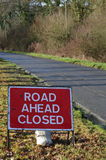Road ahead closed sign. Royalty Free Stock Photography