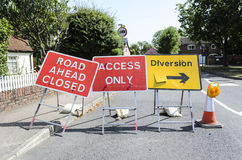 Road ahead closed sign. Stock Photography