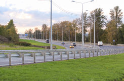 The road from the airport Pushkin. Stock Image