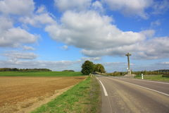 Road in Aisne,  France Royalty Free Stock Photography