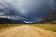 Road on Alaska Stock Photo
