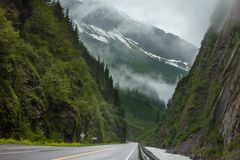 Road on Alaska Royalty Free Stock Image
