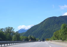 Road along The Alps Stock Image