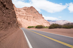 Road along Andean valleys Royalty Free Stock Photos