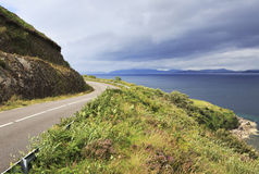 Road along the Atlantic coast. Stock Images