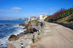 Road Along the Atlantic Ocean in Estoril Royalty Free Stock Photography