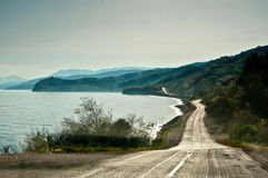 Road along the Black sea Stock Photo
