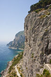 Road Along Capri Cliffs Stock Image