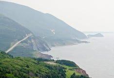 Road along coastline