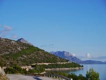 Road along the Croatian coast Royalty Free Stock Photo
