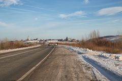 Road to Sviyazhsk royalty free stock photo