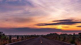Morning sun, dam road stock footage