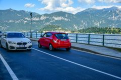 Road along Garda lake , Italy Royalty Free Stock Image