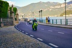 Road along Garda lake , Italy Stock Image