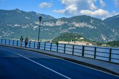 Road along Garda lake , Italy Stock Photos