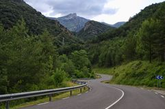Road along the Lago Bonito, Cercs, Spain Royalty Free Stock Photo