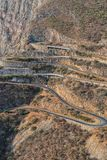 Road along Leba Sierra. View from above. Lubango. Angola. In Africa royalty free stock photo