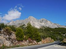 Road along the Makarka Riviera Stock Photography