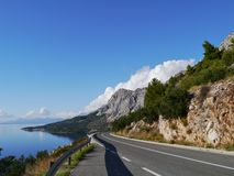 Road along the Makarka Riviera Royalty Free Stock Photography