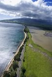 Road along Maui coast. Royalty Free Stock Image
