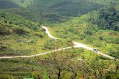 Road along mountain Stock Photo