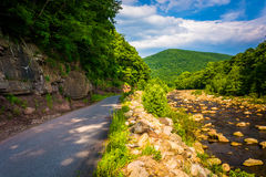 Road along Red Creek, in the rural Potomac Highlands of West Vir Royalty Free Stock Images