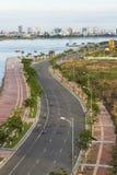Road along the river in Da nang royalty free stock image