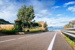 Road along the sea Stock Photography