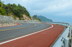 Road along a sea coast Stock Image