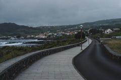 Road Along Shore leading to Porto Martins royalty free stock photo